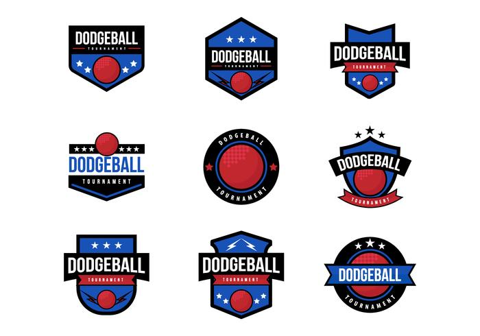 Free Dodge Ball Badges Vector
