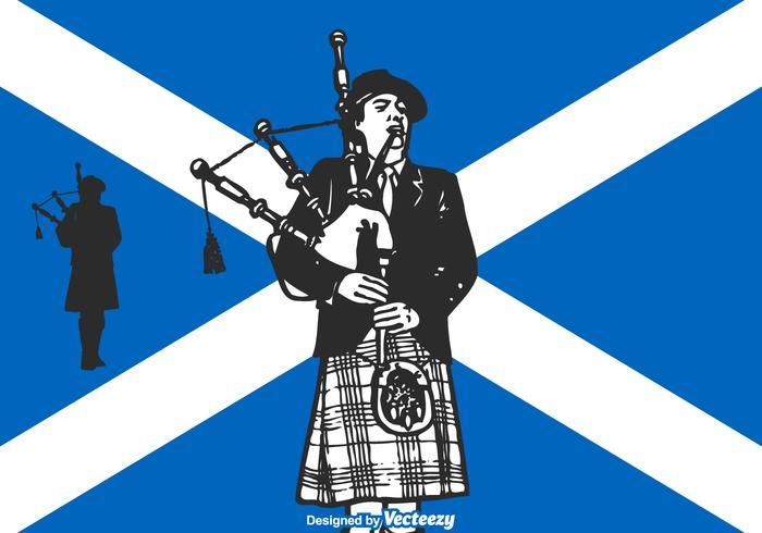 Libre Vector Scottish Bagpiper
