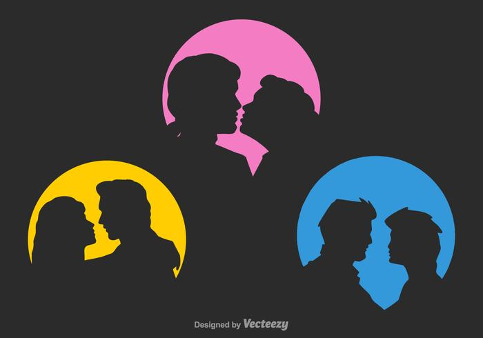 Free Vector Couple Silhouettes