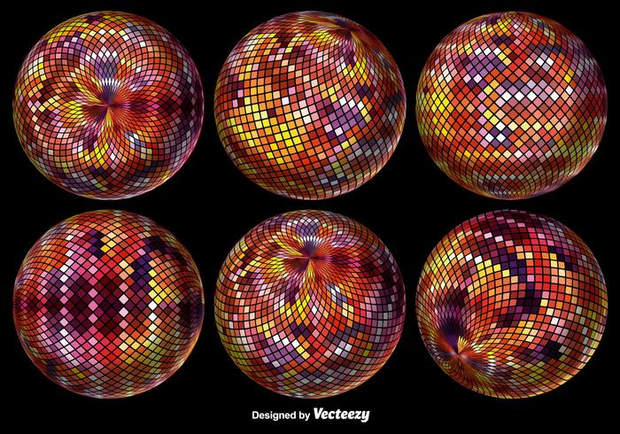 Abstract Pixelated Sphere. Illustration vectorielle.