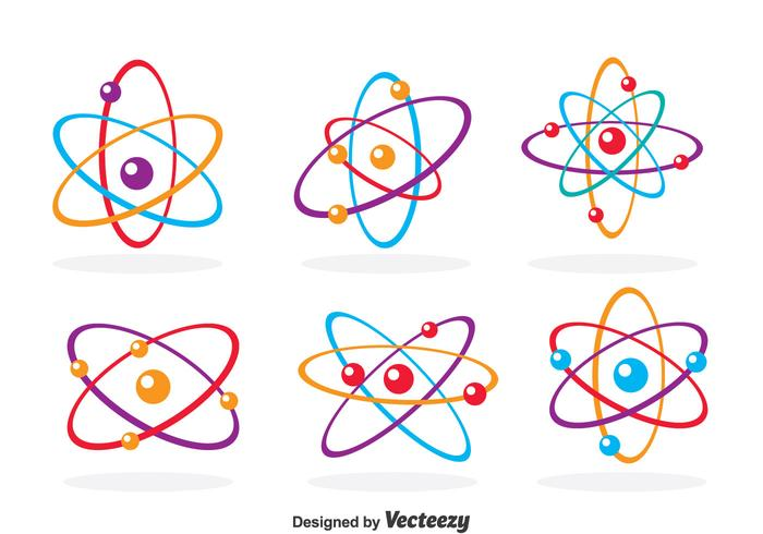 Colorful Atom Icons