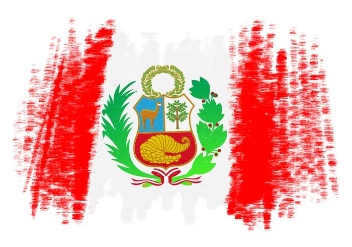 Peru Flag Vector Background