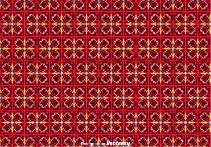 Flower Portuguese Tiles Pattern