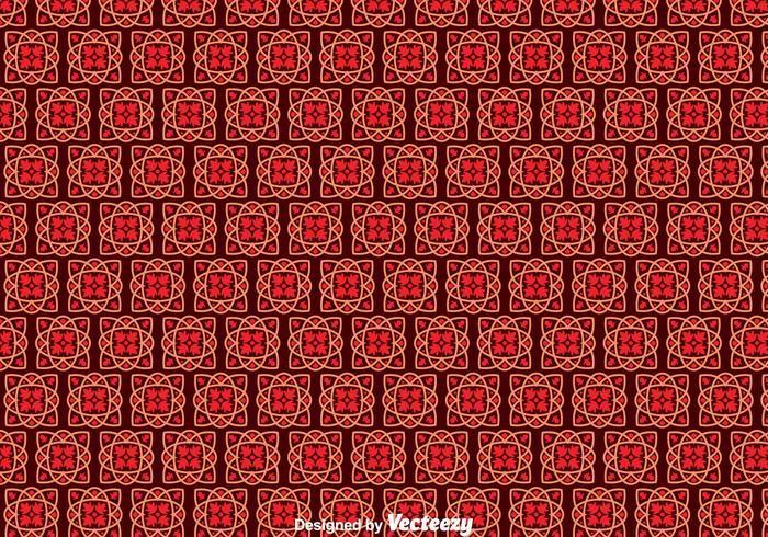 Motif de carreaux portugais rouge