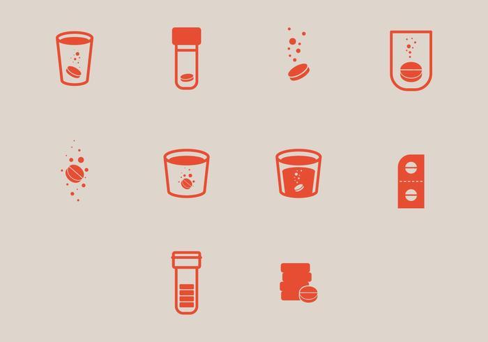 Simple Effervescent Icon Vectors