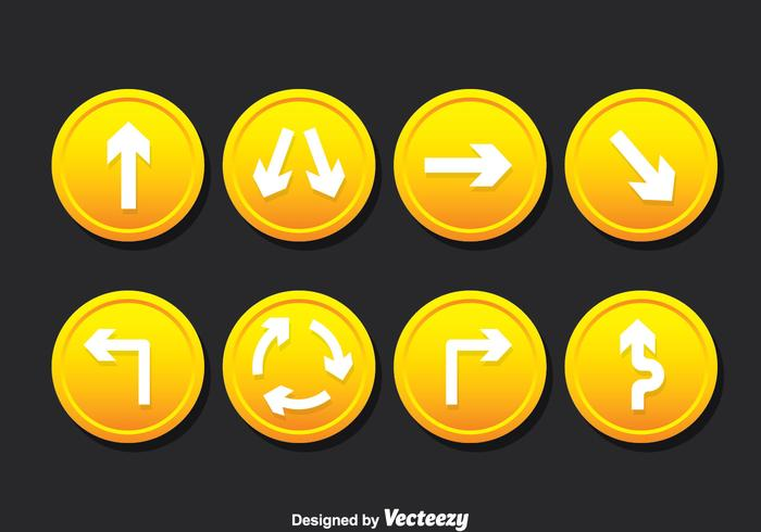 Road Signs Vector Set