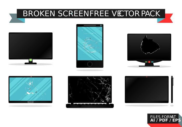 Broken Screen Free Vector Pack