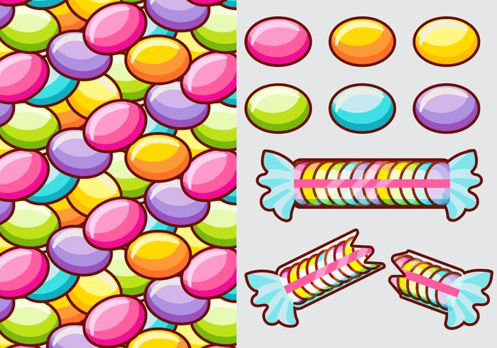 Smarties Candy Vector Elements