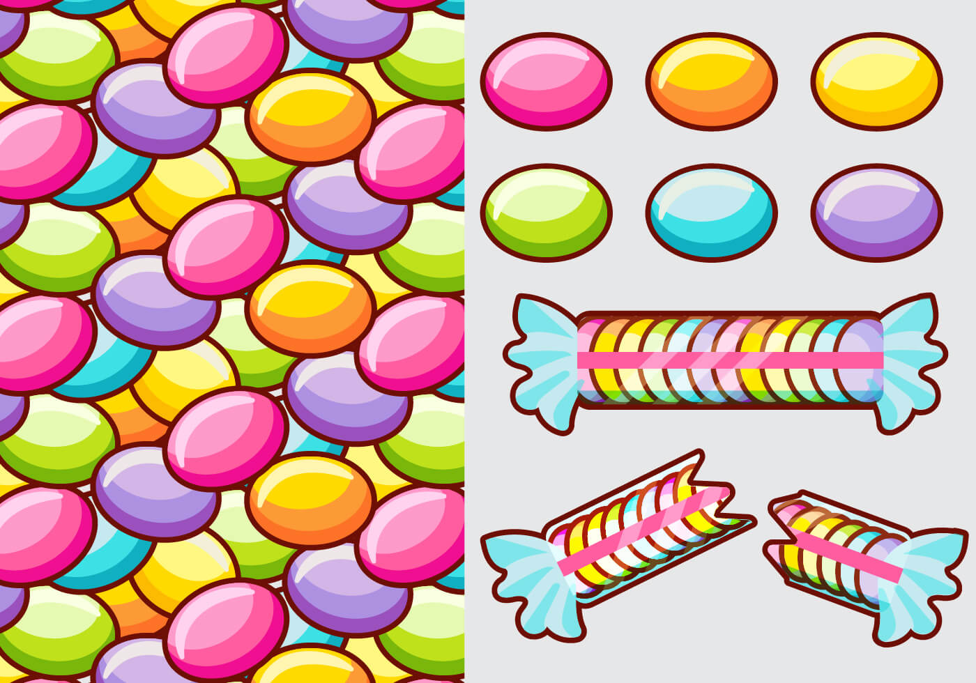 Smarties Candy Vector Elements - Download Free Vector Art, Stock Graphics & Images