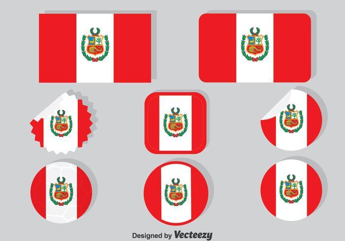 Peru Vlag Collectie Set