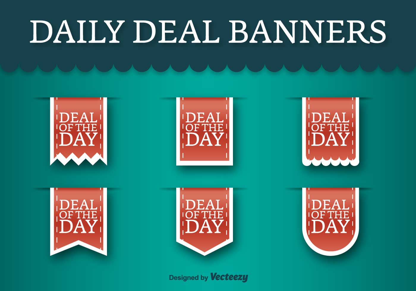 deal of the day vector labels
