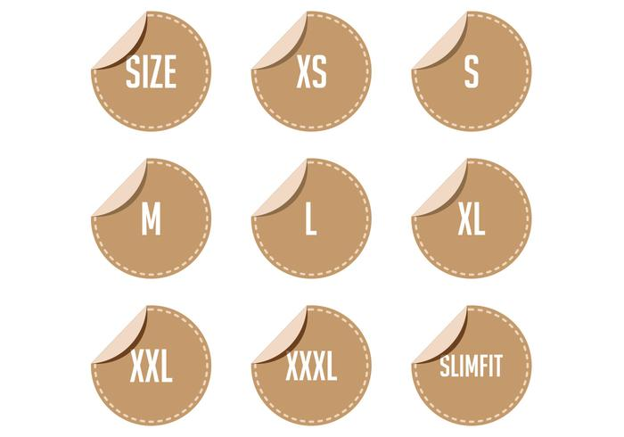 Free Clothing Size Label Vectors