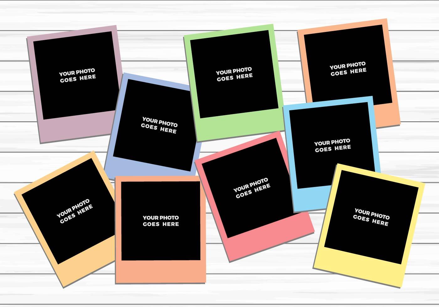 Polaroid template
