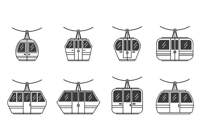Set di icone di funivia