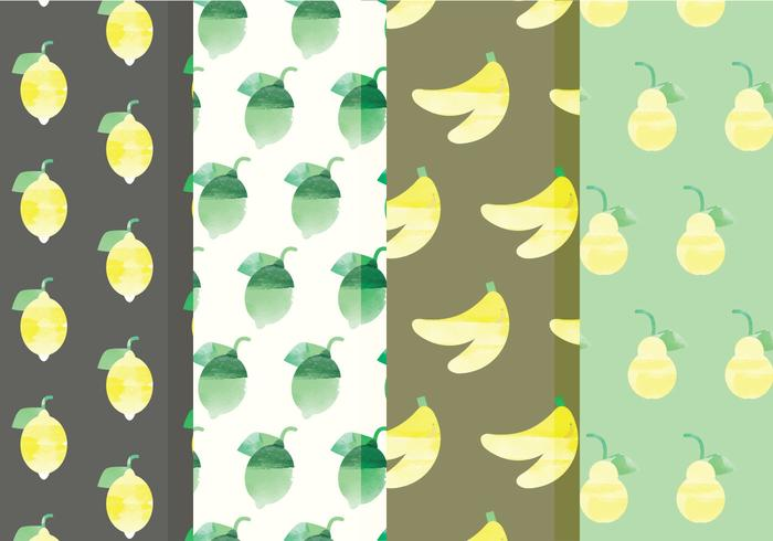 Vector Fruit and Citrus Patterns