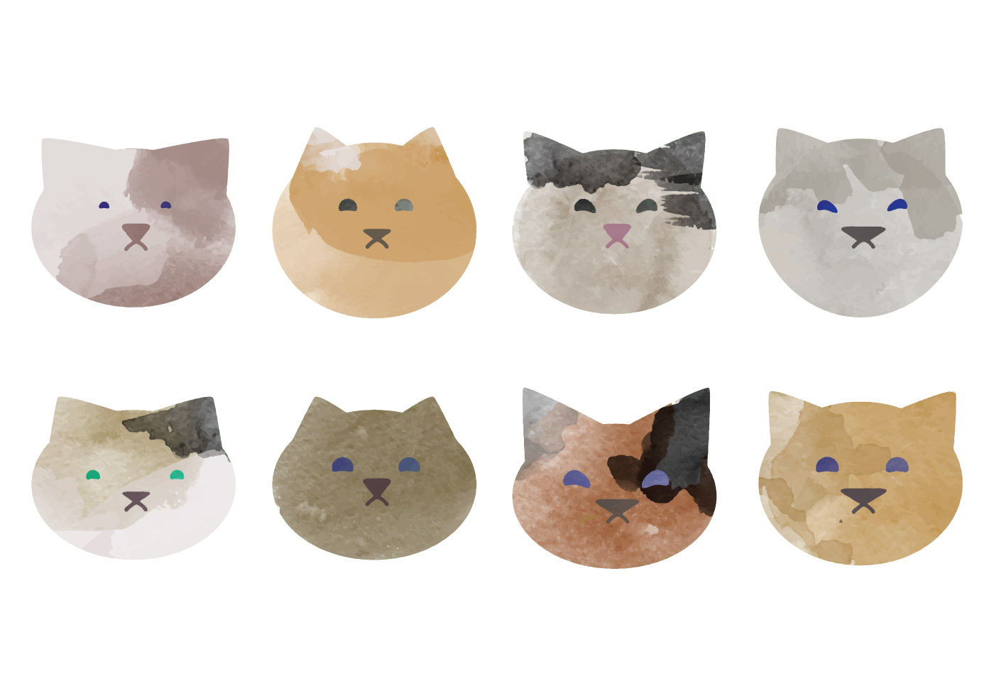 vector watercolor cats collection download free vector paw print vector art free paw print vector file