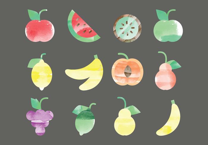 Vektor akvarell frukter