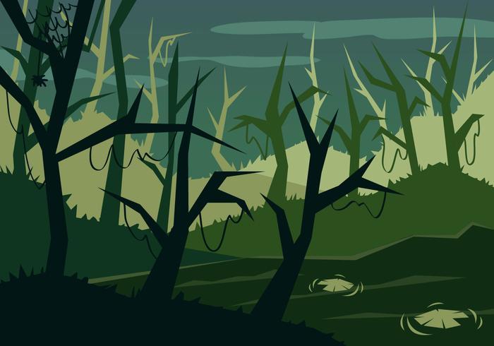 Swamp Illustration Vector