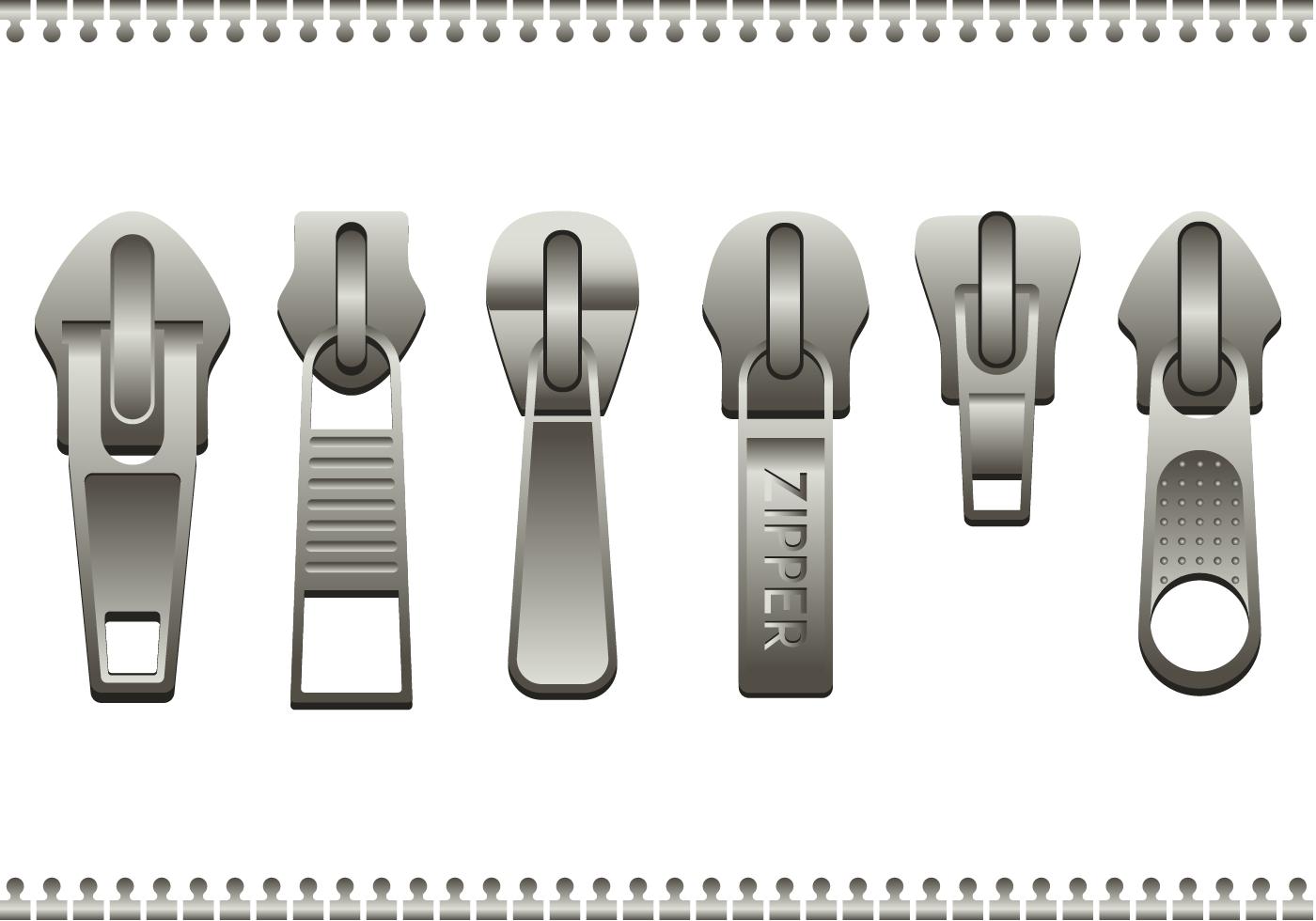 Free Steel Zipper Pull Vector - Download Free Vector Art