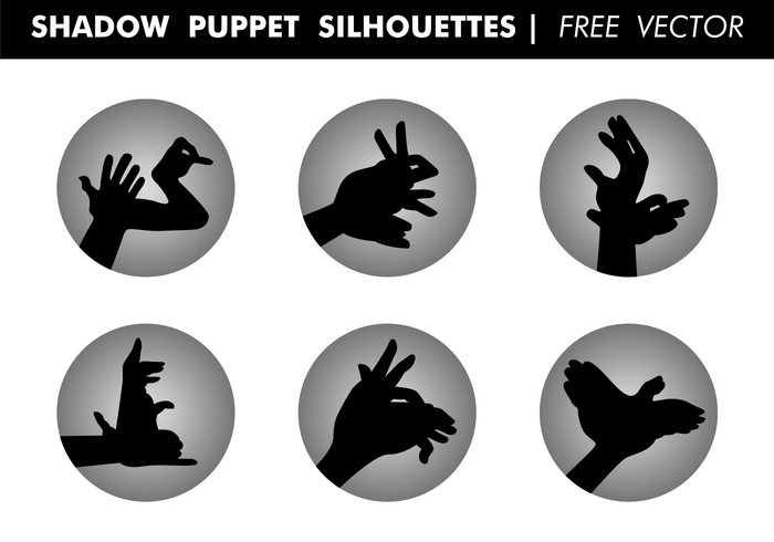 Shadow Puppet Silhouettes Free Vector