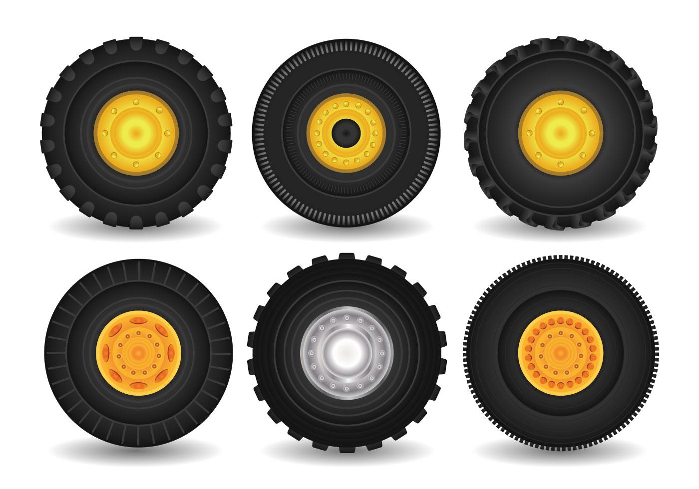 Clip Art Tractor Wheels : Tractor tire vector download free art stock