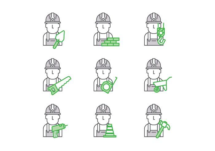 Free Bricklayer Vector
