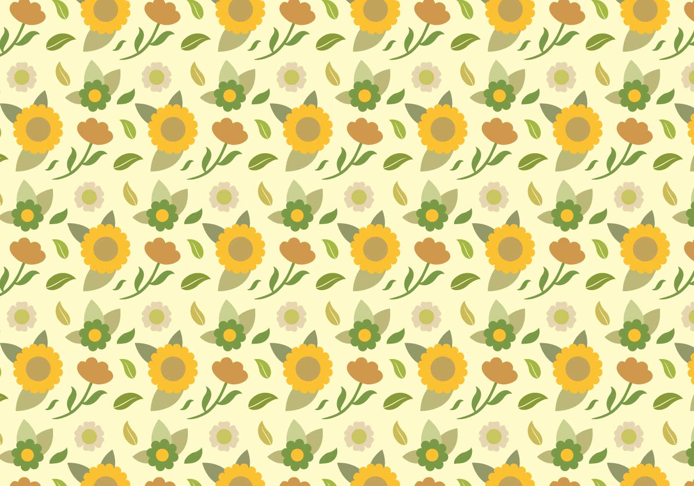 yellow floral pattern - photo #38