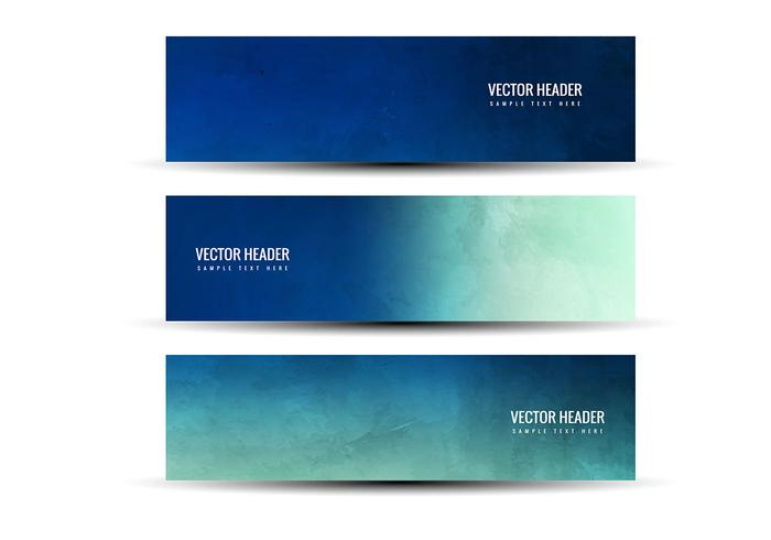 Free Vector Blue Green Abstract Headers