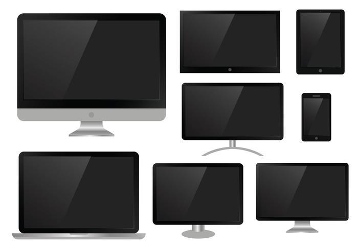 Free LED Screen Flat Vector