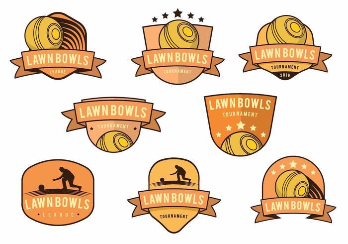 Lawn Bowls Badge Set