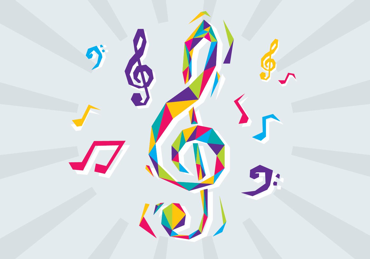 Vector Key Illustration: Free Violin Key Vector Illustration