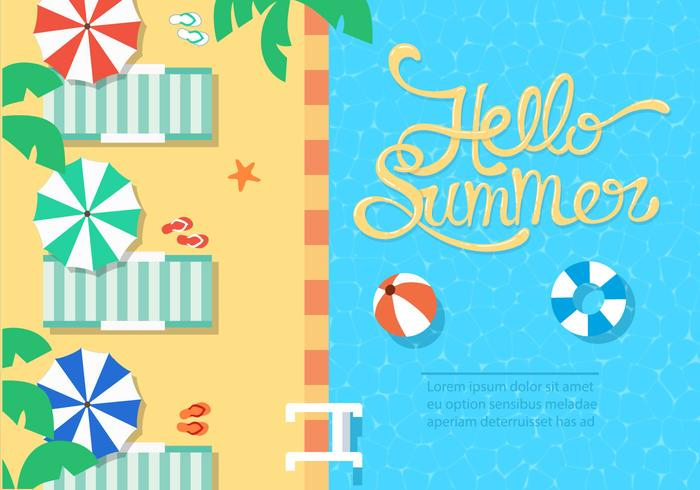 Gratis Summer Beach Vector Illustration