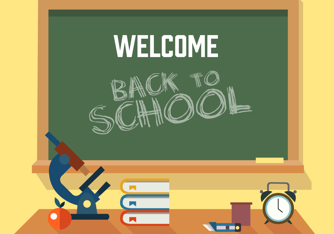 Free Back to School Vector Illustration - Download Free ...
