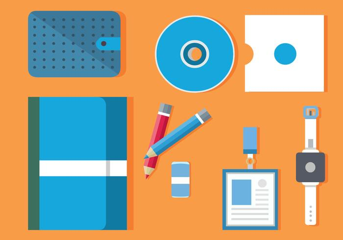Gratis Flat Design Icon Set van Business Vector