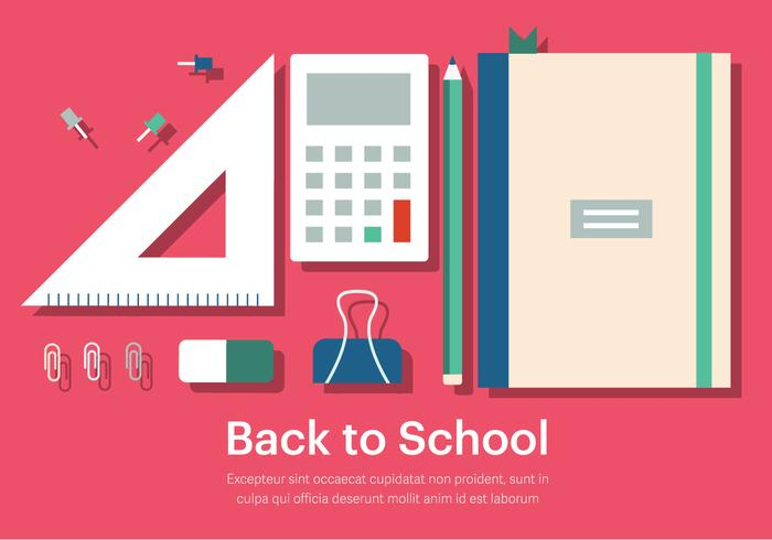 Free Back to School Vector Illustration