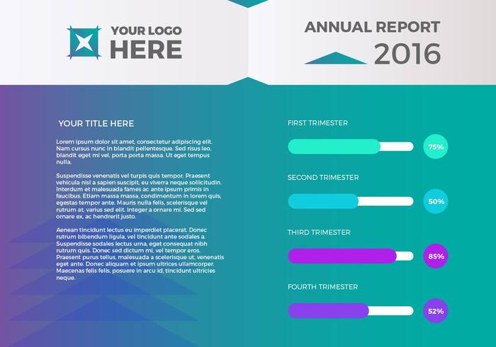 Free Annual Report Vector Presentation 1