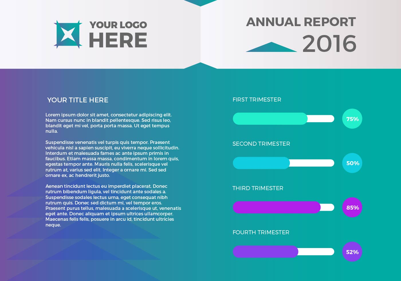 Free Annual Report Vector Presentation 1 Download Free Vector Art