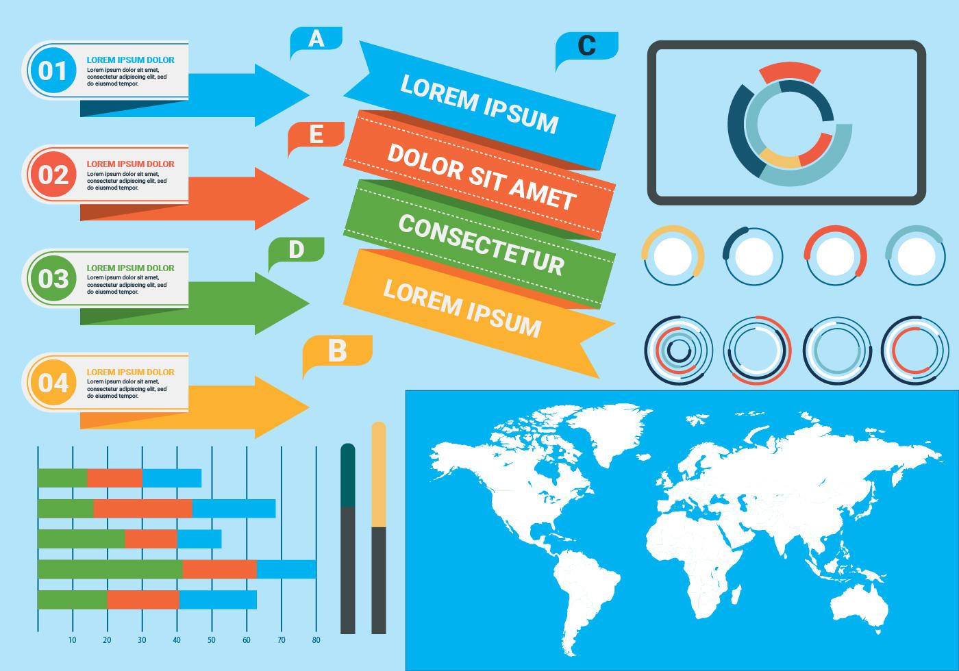free infographics elements vector illustration