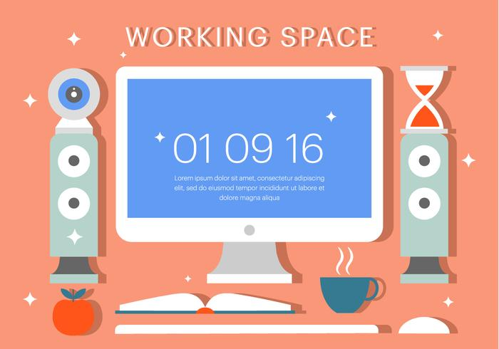 Free Workspace Vector Illustration