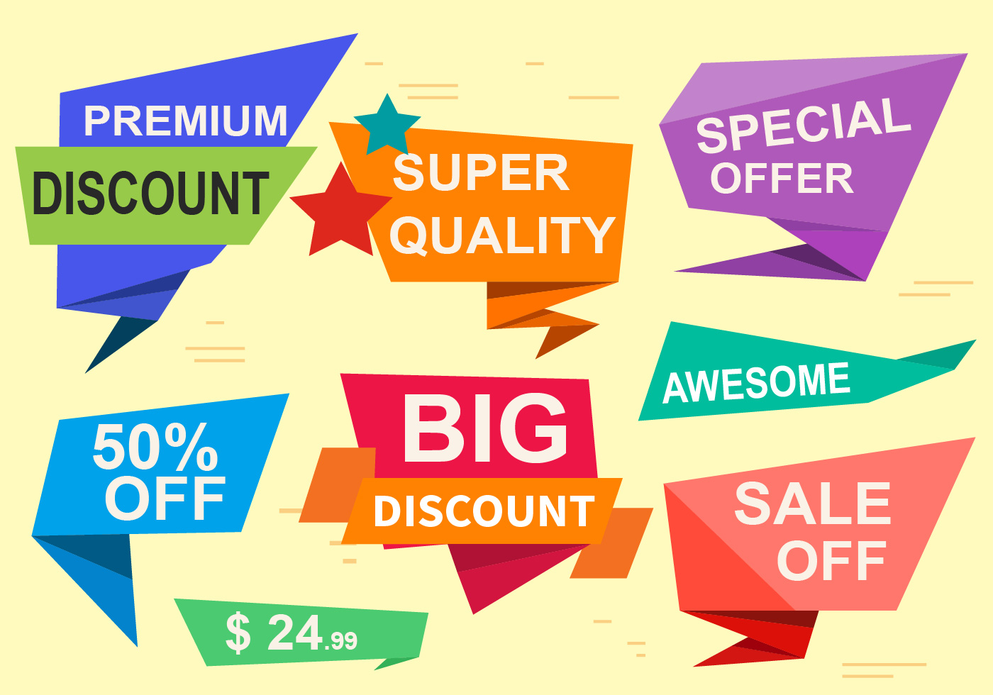 special offer vector labels