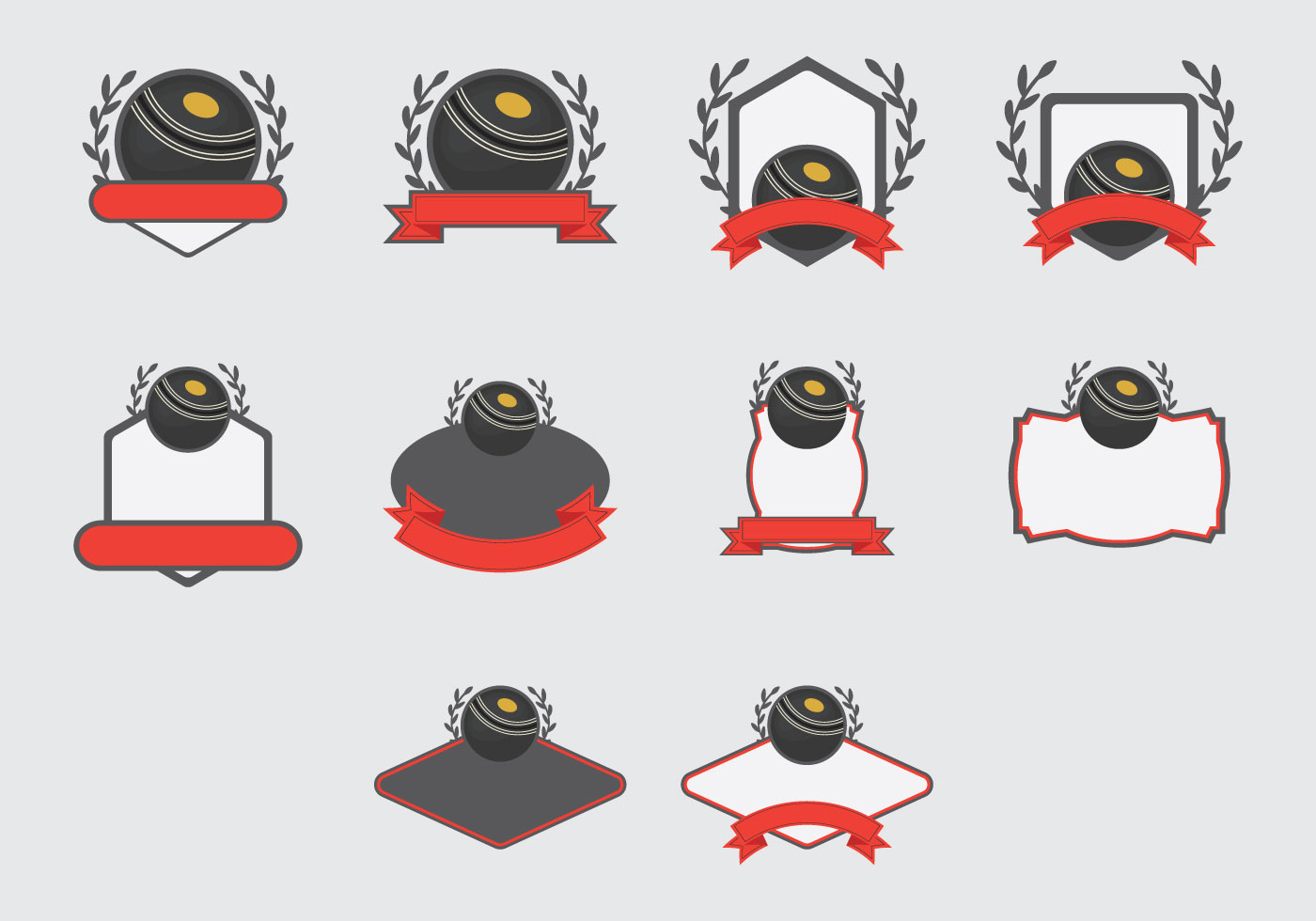 Lawn Bowls Template Arcade Icon Set Download Free