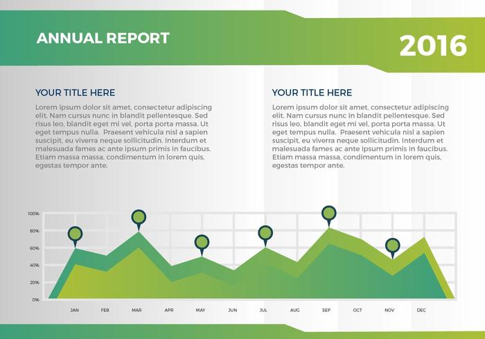 Free Annual Report Vector Presentation 9