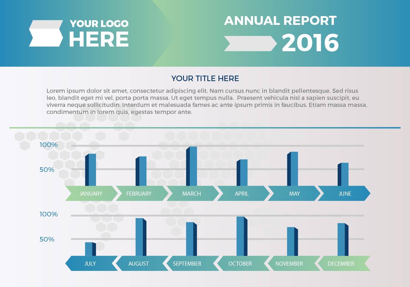 free annual report vector presentation 2