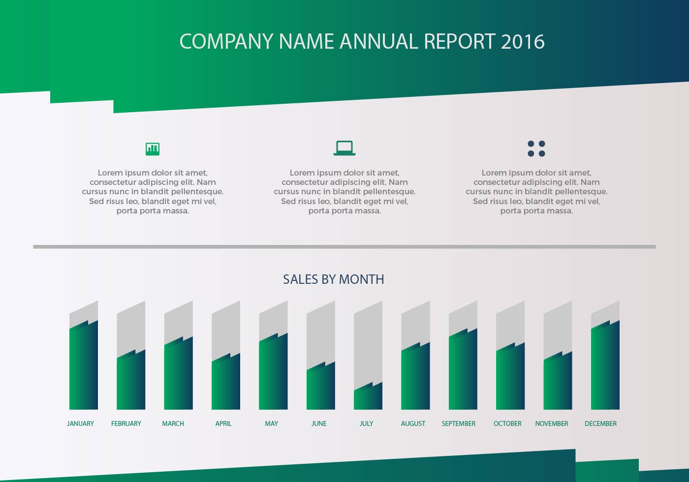 free annual report vector presentation 3