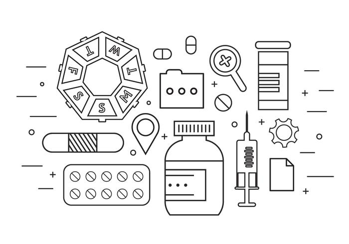 Medicine Icons in Vector