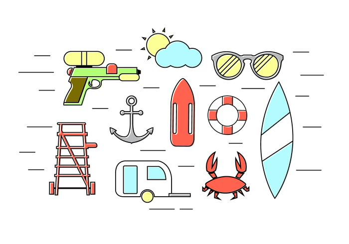 Vector Set of Summer Icons
