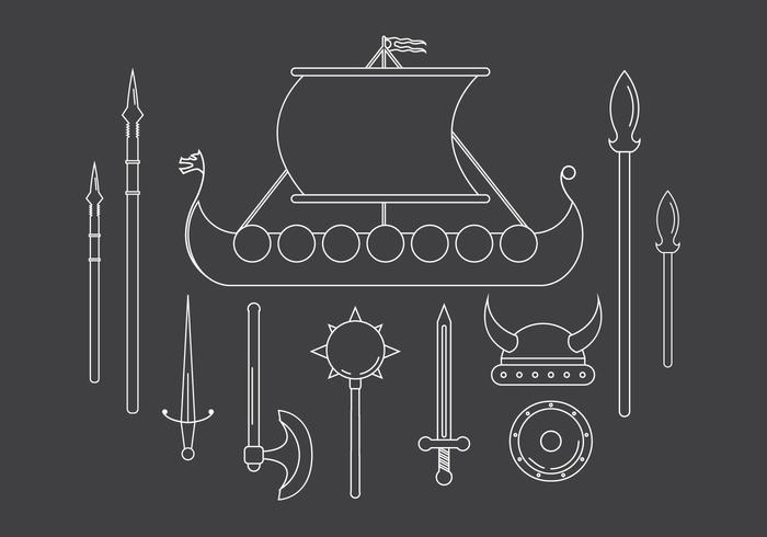 Vector Set von Wikinger Icons