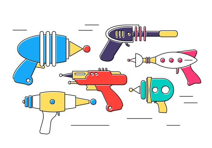 Pistole laser vettoriali gratis