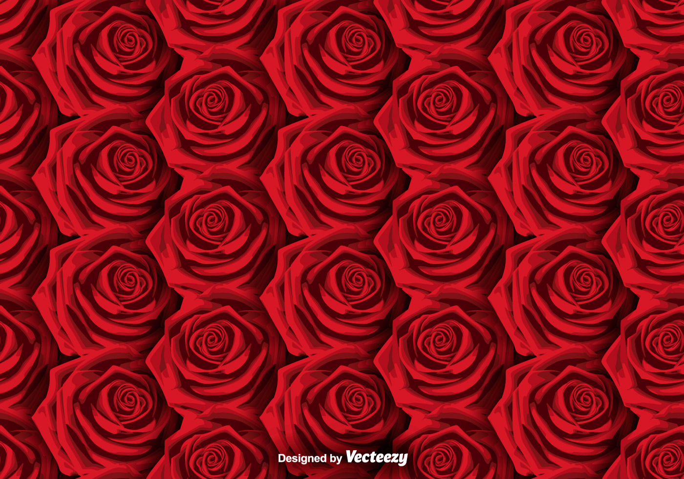 Vector Roses Background - SEAMLESS PATTERN - Download Free ...