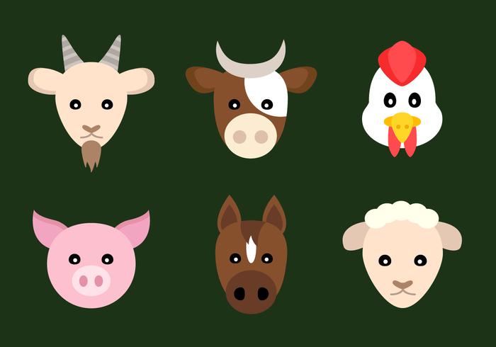 Animales de granja vectoriales gratis